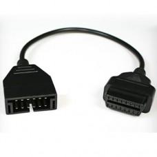 Переходник ВАЗ, Daewoo GM12 на OBD2  (gm/daewoo-12 adaptor OBDII)